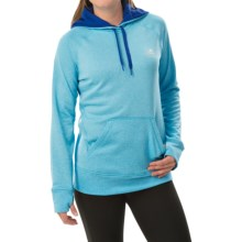 adidas outdoor Ultimate Pullover Hoodie (For Women) in Bright Cyan/Bold Blue - Closeouts