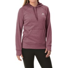 adidas outdoor Ultimate Pullover Hoodie (For Women) in Maroon/Black - Closeouts