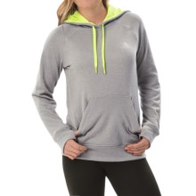 adidas outdoor Ultimate Pullover Hoodie (For Women) in Mgh Solid Grey/Solar Yellow - Closeouts