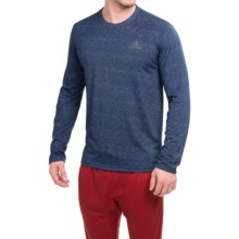 adidas outdoor Ultimate Shirt - Long Sleeve (For Men) in Col Navy/Colored Heather/Dgh Solid Grey - Closeouts