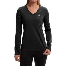 adidas outdoor Ultimate V-Neck Shirt - Long Sleeve (For Women) in Black/Matte Silver - Closeouts