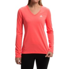 adidas outdoor Ultimate V-Neck Shirt - Long Sleeve (For Women) in Flash Red/Matte Silver - Closeouts