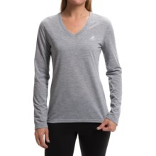 adidas outdoor Ultimate V-Neck Shirt - Long Sleeve (For Women) in Med Grey Heather/Matte Silver - Closeouts