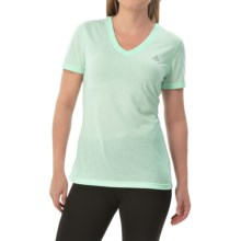 adidas outdoor Ultimate V-Neck Shirt - Short Sleeve (For Women) in Frozen Green/Matte Silver - Closeouts