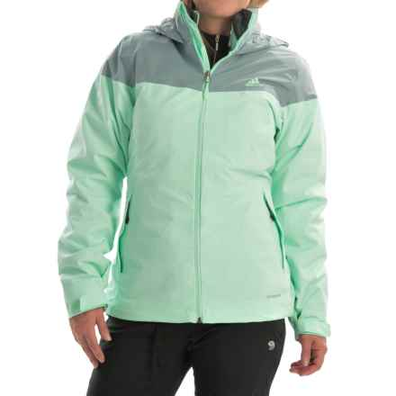 adidas outdoor Wandertag 3-in-1 Jacket - Waterproof, Insulated (For Women) in Frozen Green - Closeouts