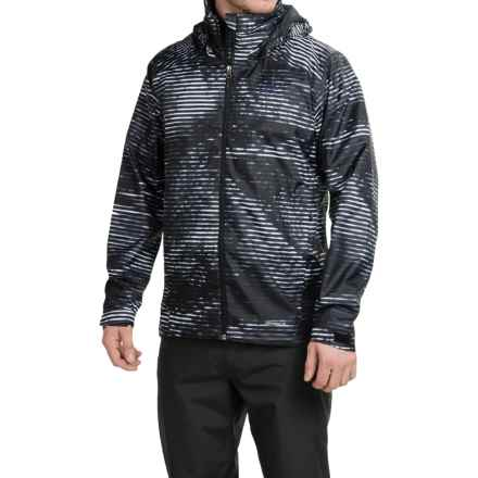 adidas outdoor Wandertag Graphic Jacket - ClimaProof® (For Men) in Black - Closeouts