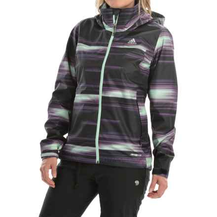 adidas outdoor Wandertag Graphic Jacket - ClimaProof® (For Women) in Ash Purple - Closeouts