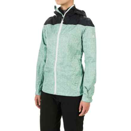 adidas outdoor Wandertag Graphic Jacket - ClimaProof® (For Women) in Vapour Steel/Mineral Blue - Closeouts