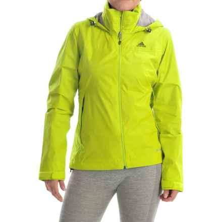 adidas outdoor Wandertag Jacket - Waterproof (For Women) in Semi Solar Yellow - Closeouts
