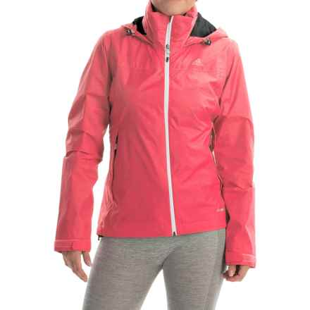 adidas outdoor Wandertag Jacket - Waterproof (For Women) in Super Blush - Closeouts