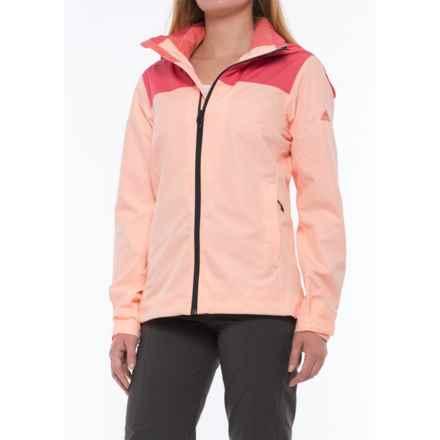 adidas outdoor Wandertag Jacket - Waterproof (For Women) in Tactile Pink/Haze Coral - Closeouts