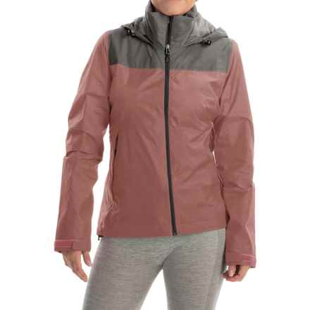 adidas outdoor Wandertag Jacket - Waterproof (For Women) in Tech Earth/Ray Pink - Closeouts