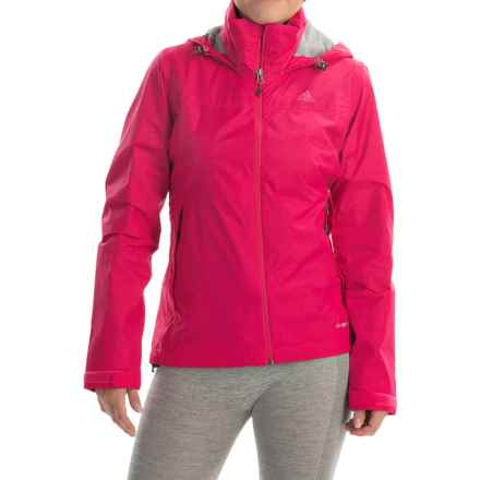 adidas outdoor Wandertag Jacket - Waterproof (For Women) in Vivid Berry - Closeouts