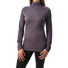 adidas outdoor Xperior Active Shirt - Mock Neck, Long Sleeve (For Women) in Ash Purple - Closeouts