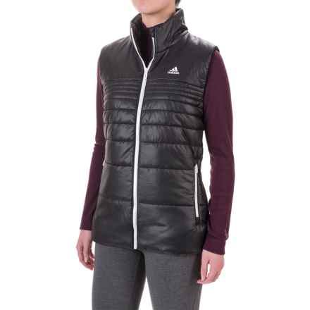 adidas Padded Vest - Insulated (For Women) in Black/Black - Closeouts