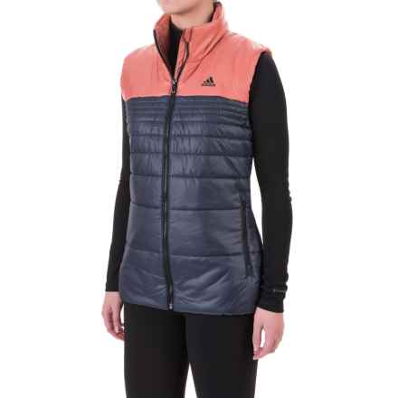 adidas Padded Vest - Insulated (For Women) in Utility Blue/Raw Pink - Closeouts