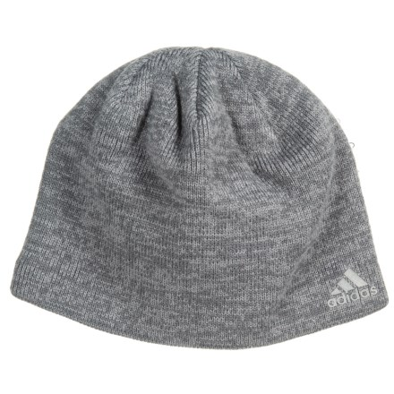 53254bc358b adidas Paramount Beanie (For Men) in Onix Grey Marl Scarlet - Closeouts