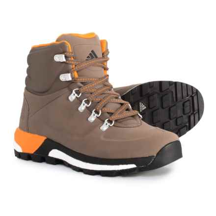 adidas Pathmaker ClimaWarm® Hiking Boots - Insulated (For Men) in Cargo Brown/Core Black/Equipment Orange - Closeouts