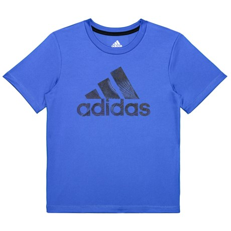 adidas Pattern Fill Logo T-Shirt - Short Sleeve (For Toddlers and Little Boys ) in Royal