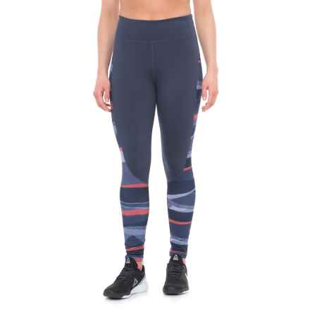 adidas Performer Camono Leggings (For Women) in Trace Blue F17 - Closeouts