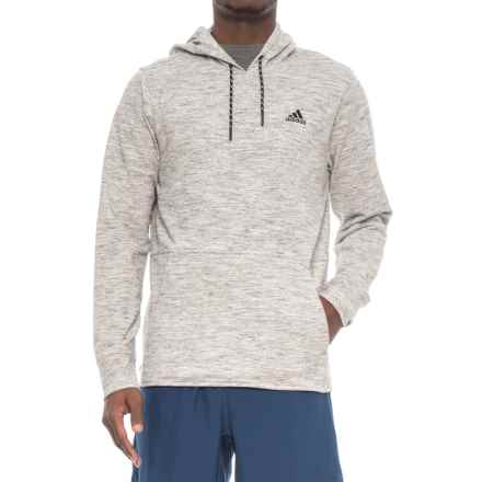 adidas Pique Fleece Hoodie (For Men) in Medium Grey Heather - Closeouts