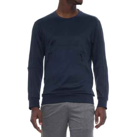 adidas Pique Shirt - Long Sleeve (For Men) in Collegiate Navy - Closeouts