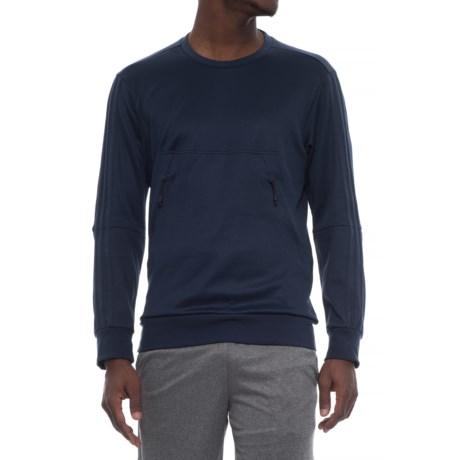 adidas Pique Shirt - Long Sleeve (For Men) in Collegiate Navy