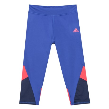 adidas Practice Color-Block Capris Tights (For Big Girls) in Royal