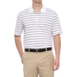 adidas puremotion® Two-Color Stripe Polo Shirt - Short Sleeve (For Men)
