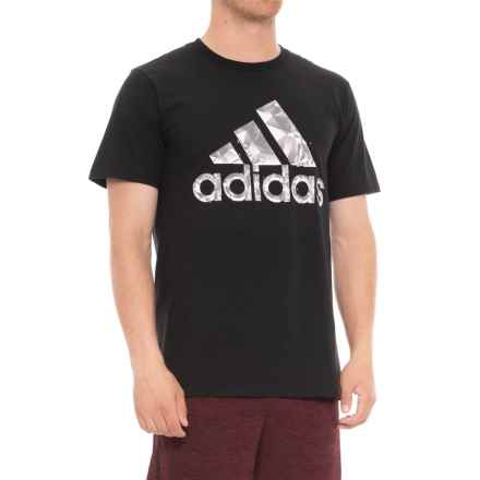 adidas Quartz T-Shirt - Short Sleeve (For Men) in Black - Closeouts
