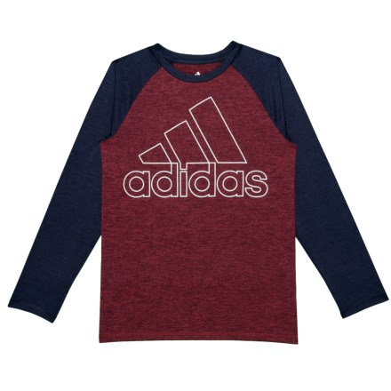 factory authentic ca6ce 96a59 adidas Raglan Performance Logo T-Shirt - Long Sleeve (For Big Boys) in