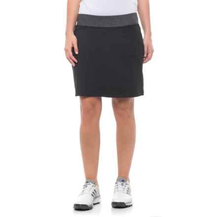 adidas Rangewear Golf Skort (For Women) in Black/Black - Closeouts