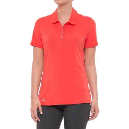 adidas Rangewear Polo Shirt - Short Sleeve (For Women) in Easy Coral - Closeouts