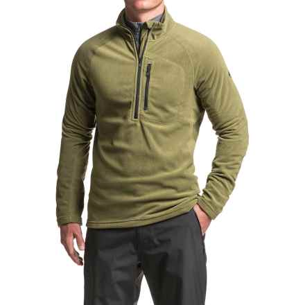 adidas Reachout Microfleece Fleece Jacket - Zip Neck (For Men) in Olive Cargo - Closeouts