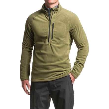 adidas Reachout Microfleece Fleece Jacket - Zip Neck (For Men) in Olive Cargo - Closeouts
