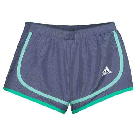 adidas Relay Race Woven Shorts (For Toddler and Little Girls) in Raw Indigo - Closeouts