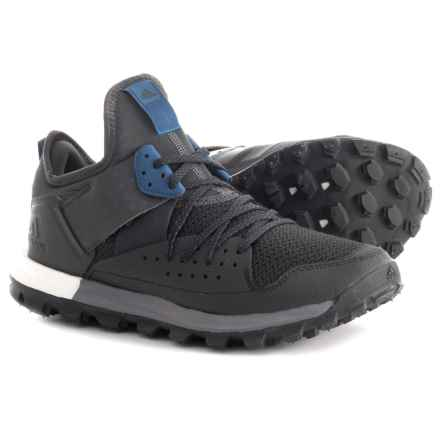 adidas Response Boost Trail Running Shoes (For Men) in Black/Utility Black/Core Blue - Closeouts
