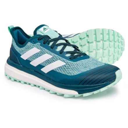 222ed7295 adidas Response Trail Running Shoes (For Women) in Black White Real Teal