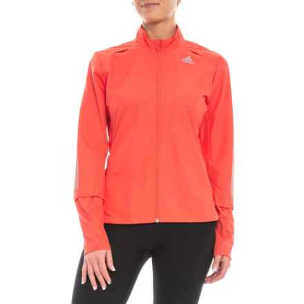adidas Response Wind Jacket (For Women) in Real Coral - Closeouts