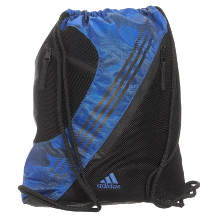 adidas Revel II Sackpack in Blue Data Camo Black Blue - Closeouts a02667350258d