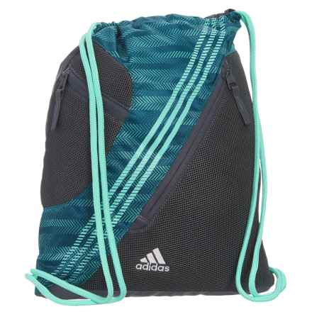 adidas Revel II Sackpack in Ratio Energy Aqua/Onix/Enegy Aqua/White - Closeouts
