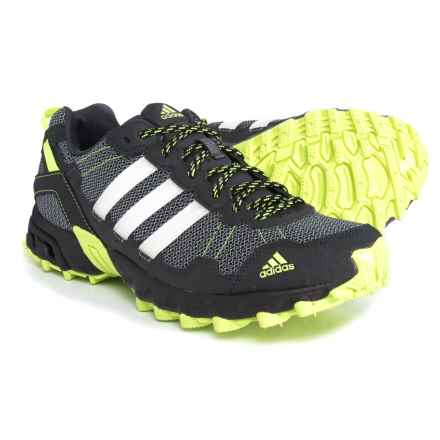 adidas Rockadia Trail Trail Running Shoes (For Men) in Dark Grey/Footwear White/Solar Yellow - Closeouts