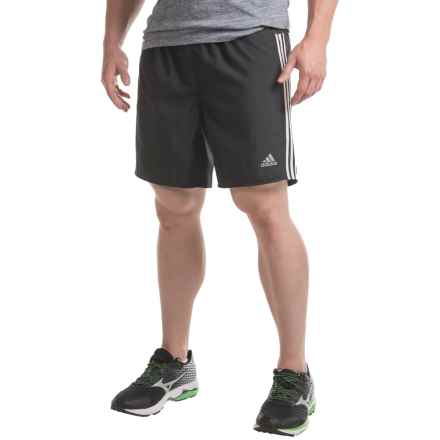 adidas Running Shorts - Built-In Briefs (For Men) in Black/White - Closeouts