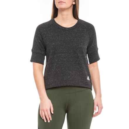 4f95fde66 adidas S2S Shirt - Short Sleeve (For Women) in Black Melange/White -