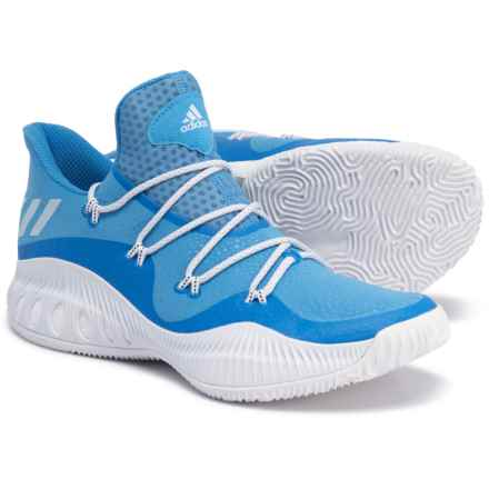 adidas SM Crazy Explosive Low Basketball Shoes (For Men) in Light Blue/Footwear White - Closeouts