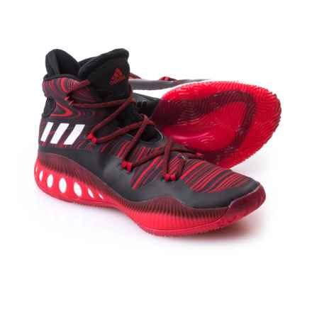 adidas SM Crazy Explosive NBA Shoes (For Men) in Black/Scarlet - Closeouts
