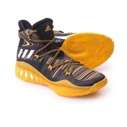 adidas SM Crazy Explosive NBA Shoes (For Men) in Black/Yellow - Closeouts