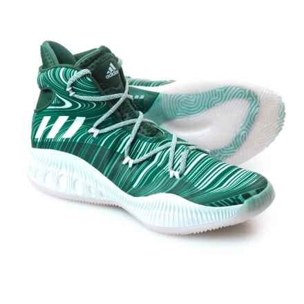adidas SM Crazy Explosive NBA Shoes (For Men) in Green/White - Closeouts