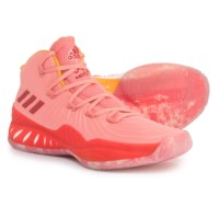 Adidas SM Crazy Explosive NBA Shoes for Men (Sizes 12.5 to 19) (Tactile Rose/Footwear White)