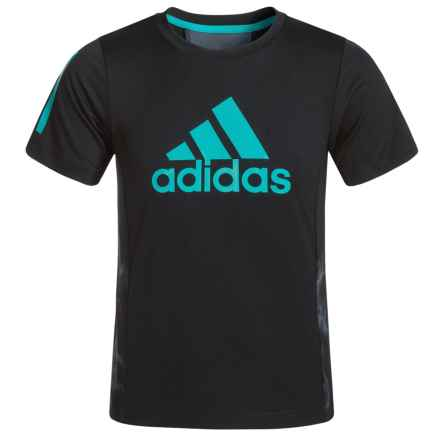 adidas Smoke Screen Training T-Shirt - Short Sleeve (For Toddlers) in Caviar Black - Closeouts